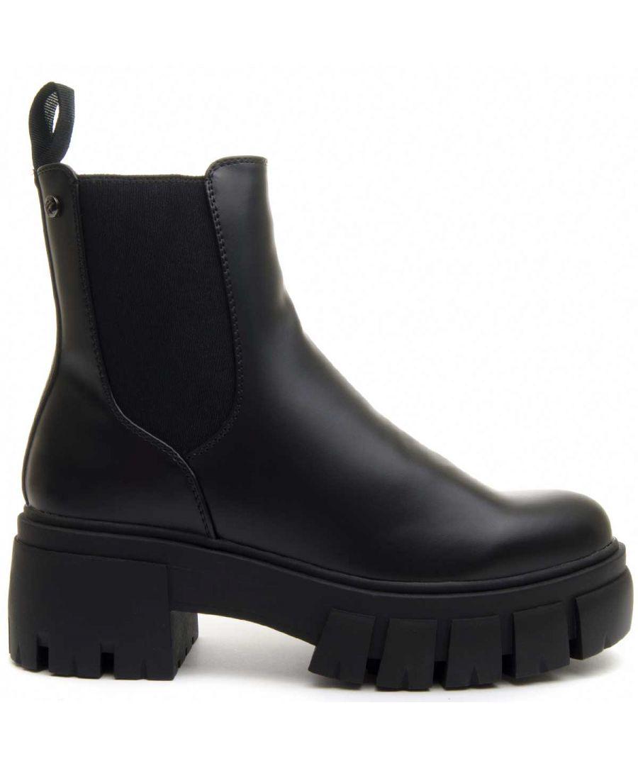 Image for Montevita Chunky Heel Chelsea Boot in Black