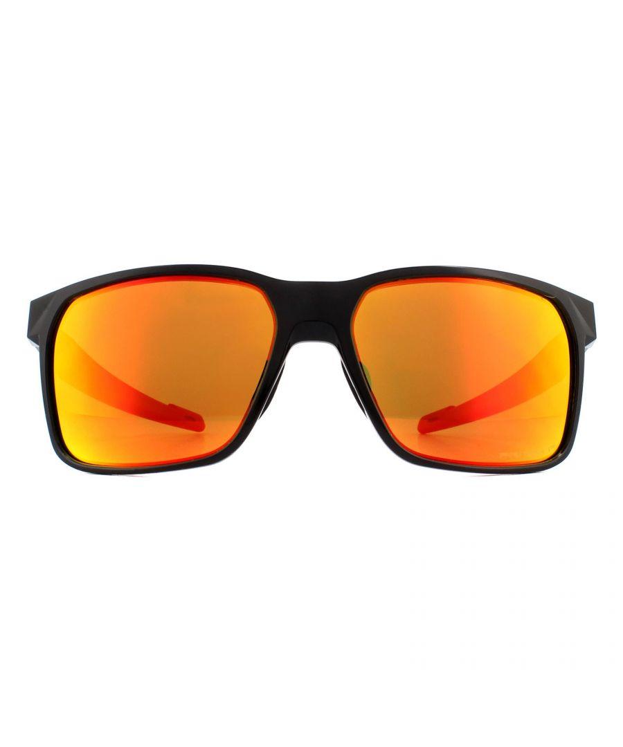 Image for Oakley Sunglasses Portal X OO9460-05 Polished Black Prizm Ruby Polarized