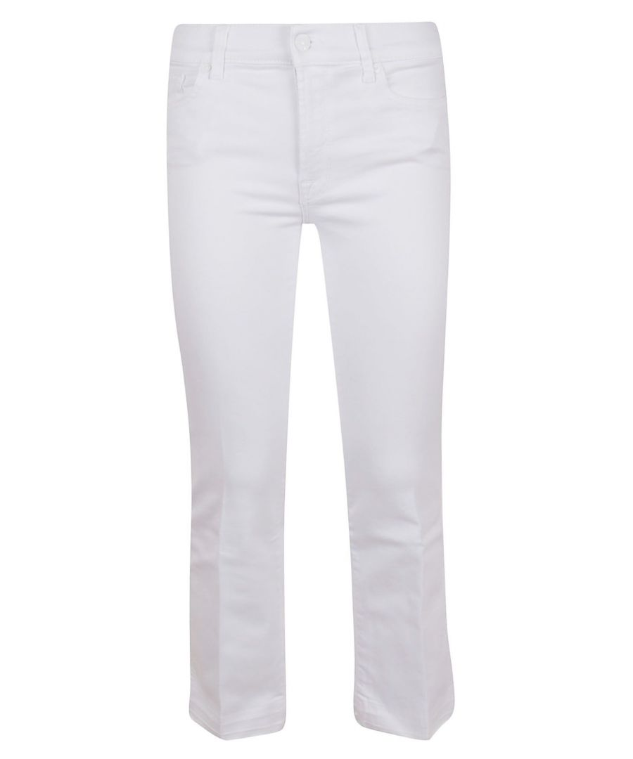 Image for 7 FOR ALL MANKIND WOMEN'S JSYRV500PUSLLLPUWH WHITE COTTON JEANS