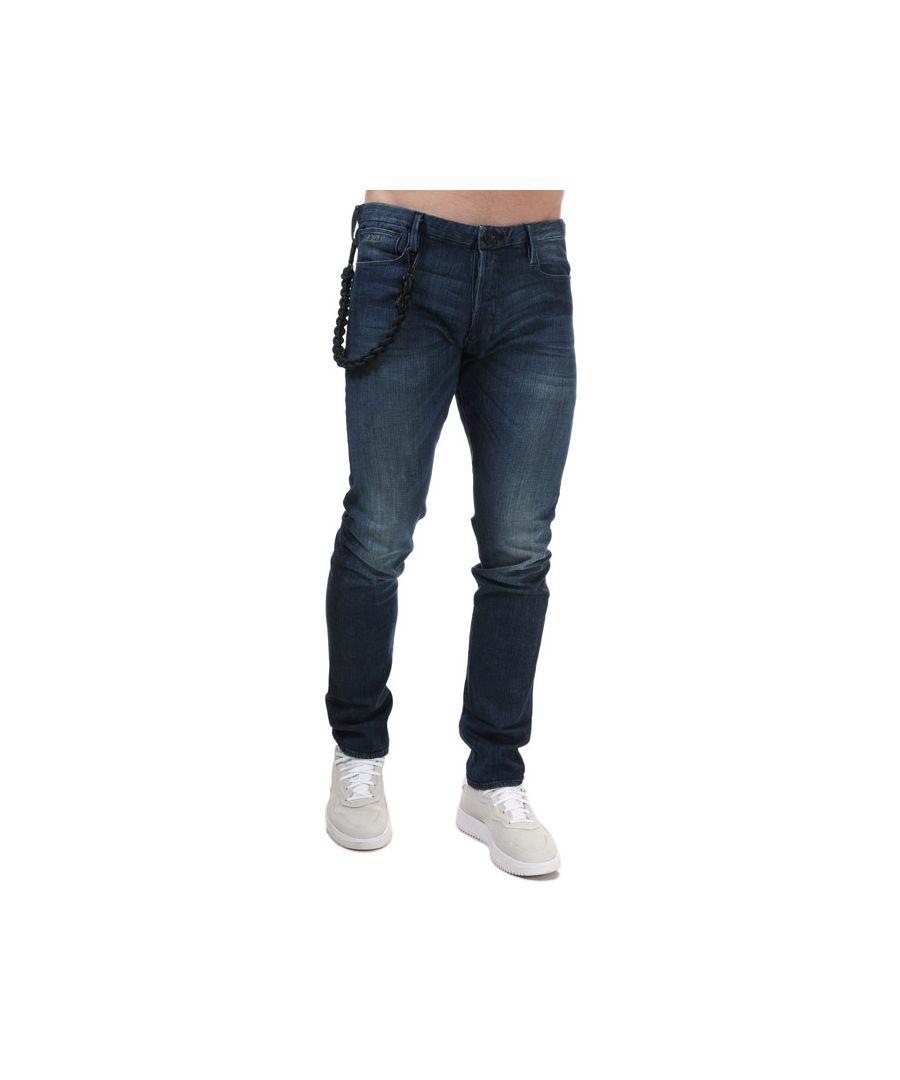 Image for Men's Armani J100 Slim Fit Jeans in Denim