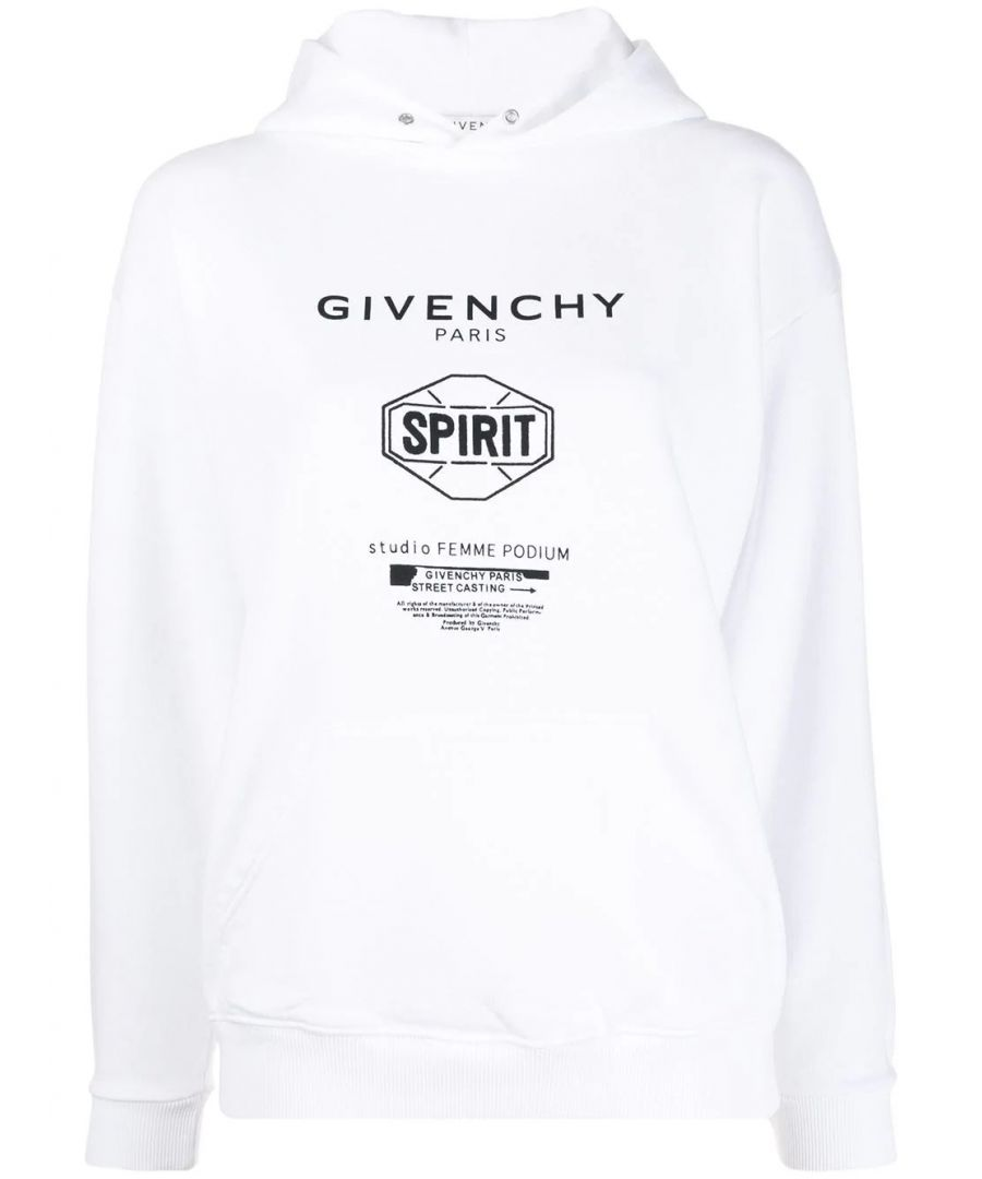 Image for GIVENCHY WOMEN'S BW70643Z33100 WHITE COTTON SWEATSHIRT