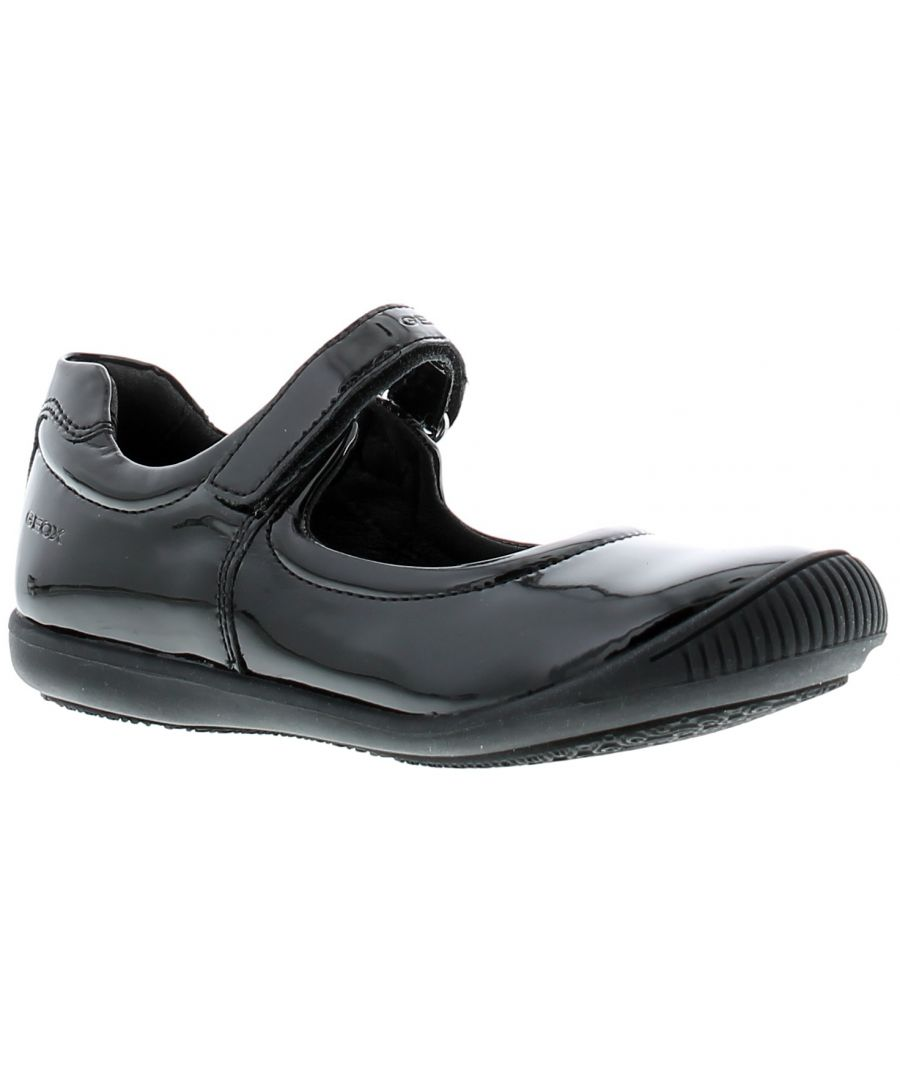 Image for Childrens Geox Synthetic Upper Back To School Shoes With Rip Tape Fastening Rubber Outsole