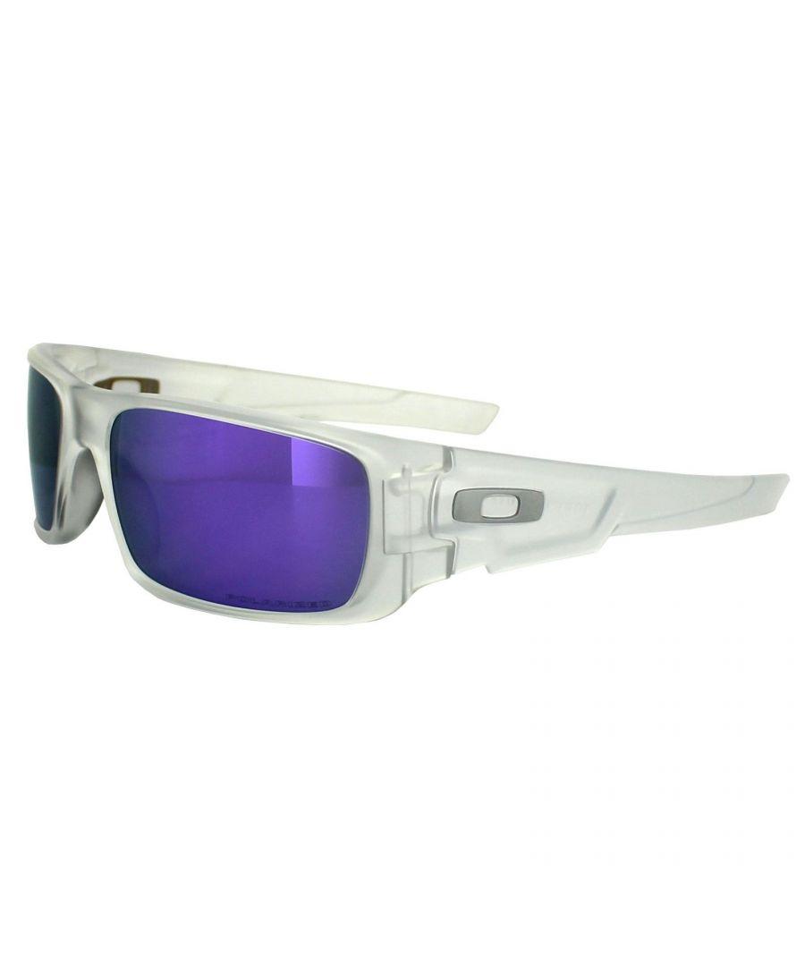 Image for Oakley Sunglasses Crankshaft 9239-09 Matt Clear Violet Iridium Polarized