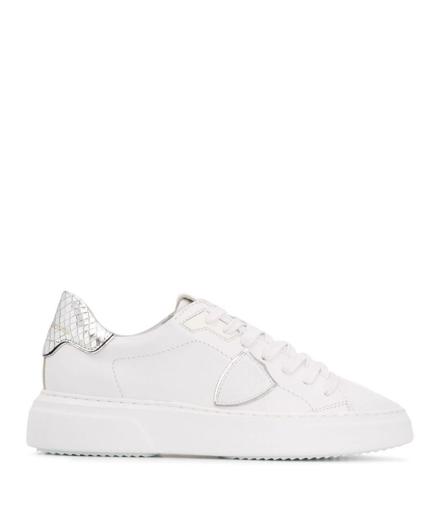 Image for PHILIPPE MODEL WOMEN'S BYLDVY04 WHITE LEATHER SNEAKERS
