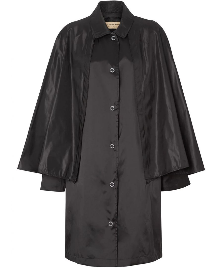 Image for BURBERRY WOMEN'S 8013657 BLACK POLYESTER TRENCH COAT