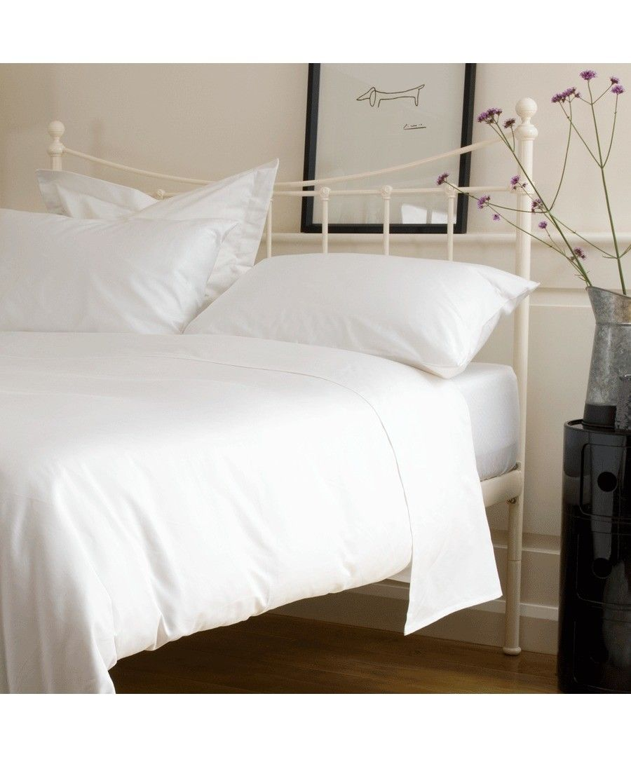 Image for 400 Thread Count Fitted Sheet - White