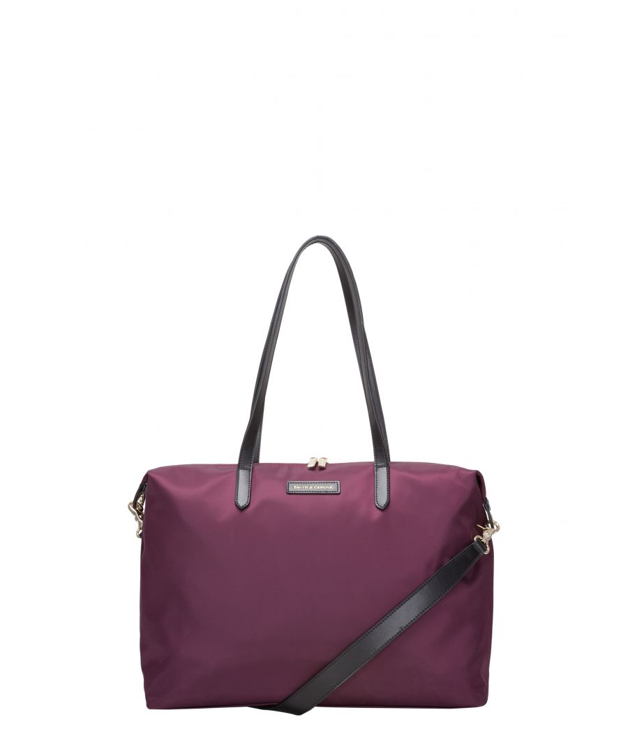 Image for LARGE NYLON ZIP TOP TOTE BAG