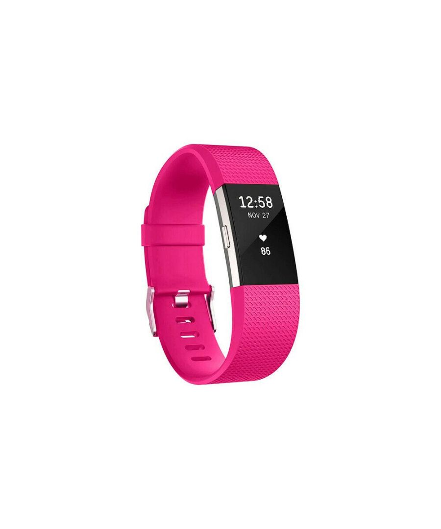 Image for Aquarius Fitbit Charge 2 Classic Replacement Straps Hot Pink