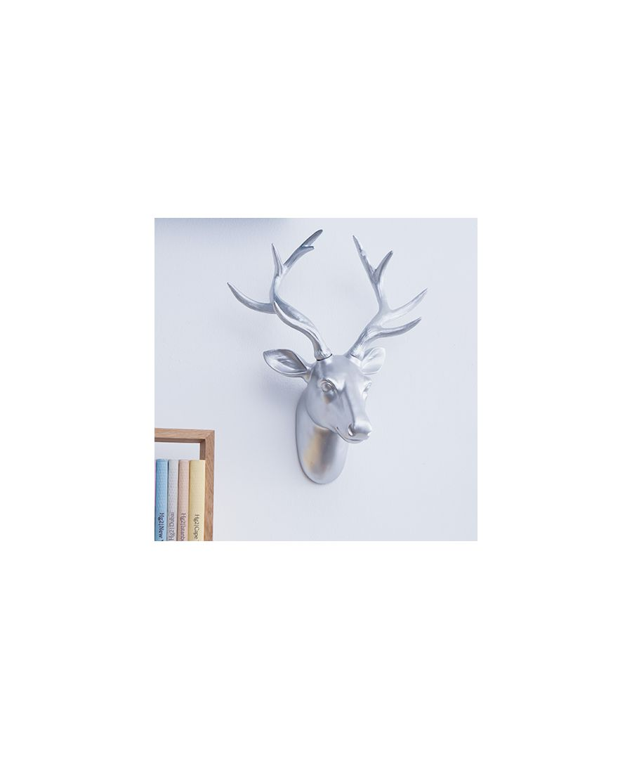 Image for Premium Deer Head Wall Art Decorations Home or gifts idea - Silver