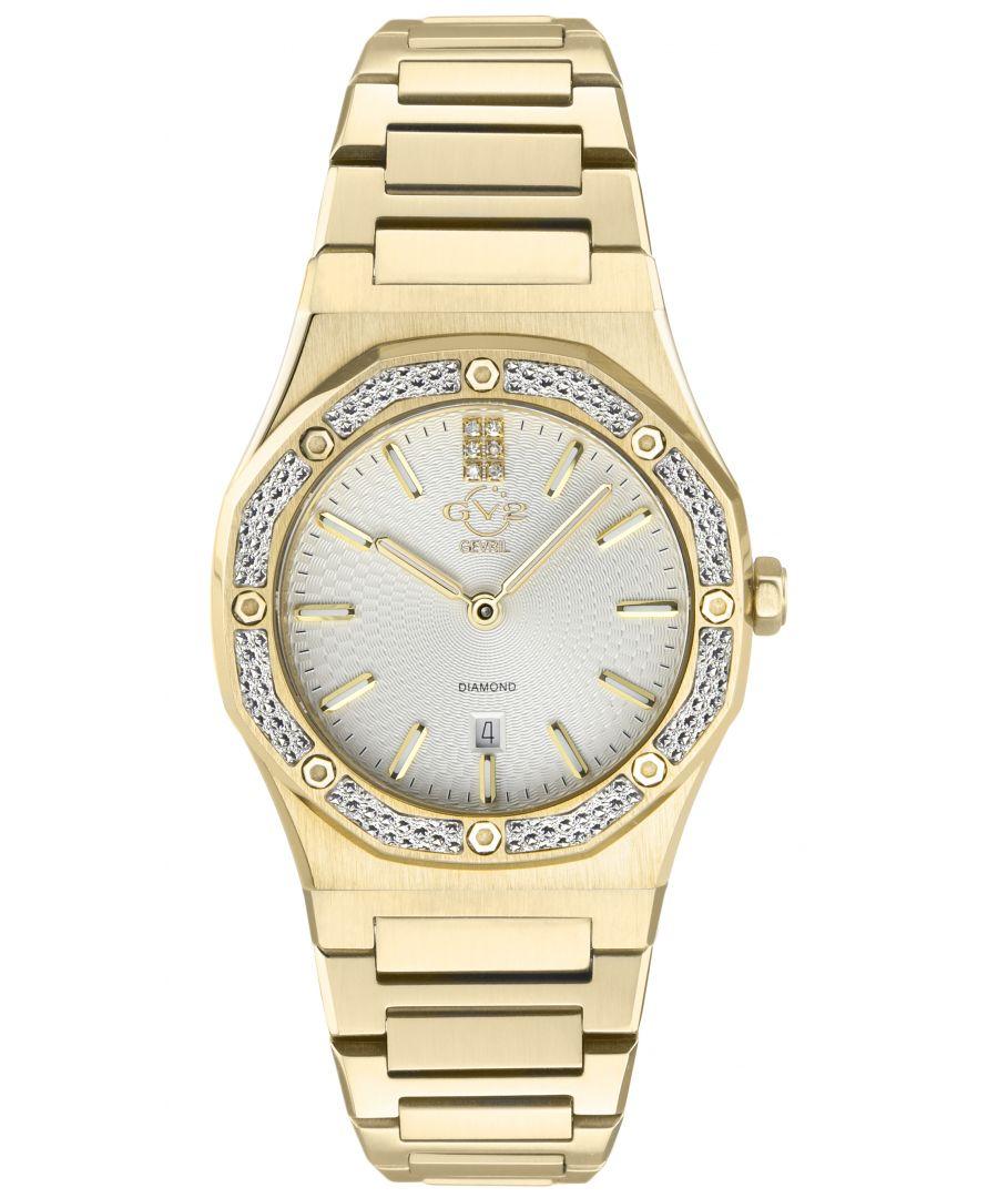 Image for GV2 Palmanova Women's Silver Dial yellow gold watch