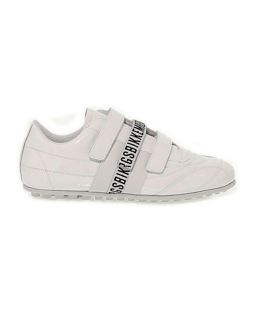 Image for BIKKEMBERGS WOMEN'S BKE107825W WHITE PATENT LEATHER SNEAKERS