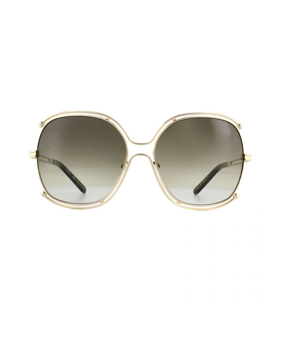 Image for Chloe Sunglasses CE129S 750 Gold Khaki Gradient