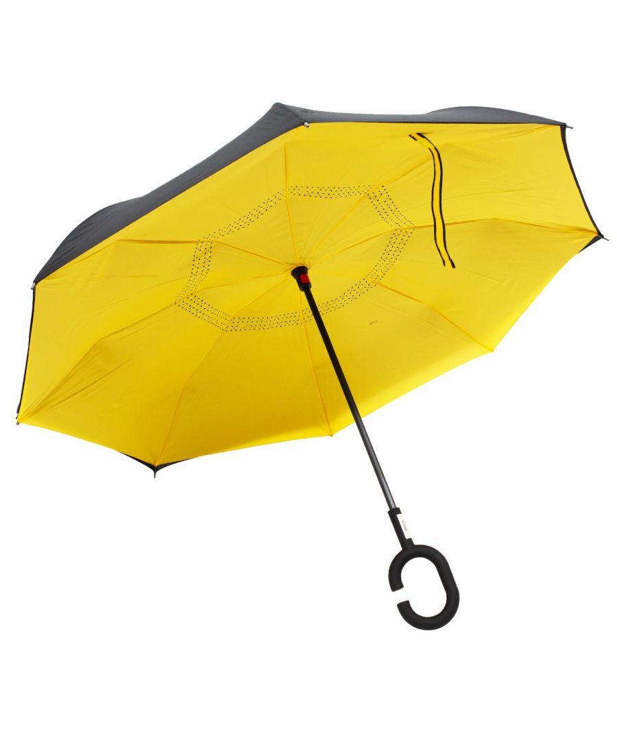 Image for Flo Fashion Reversible Umbrella Yellow Plain