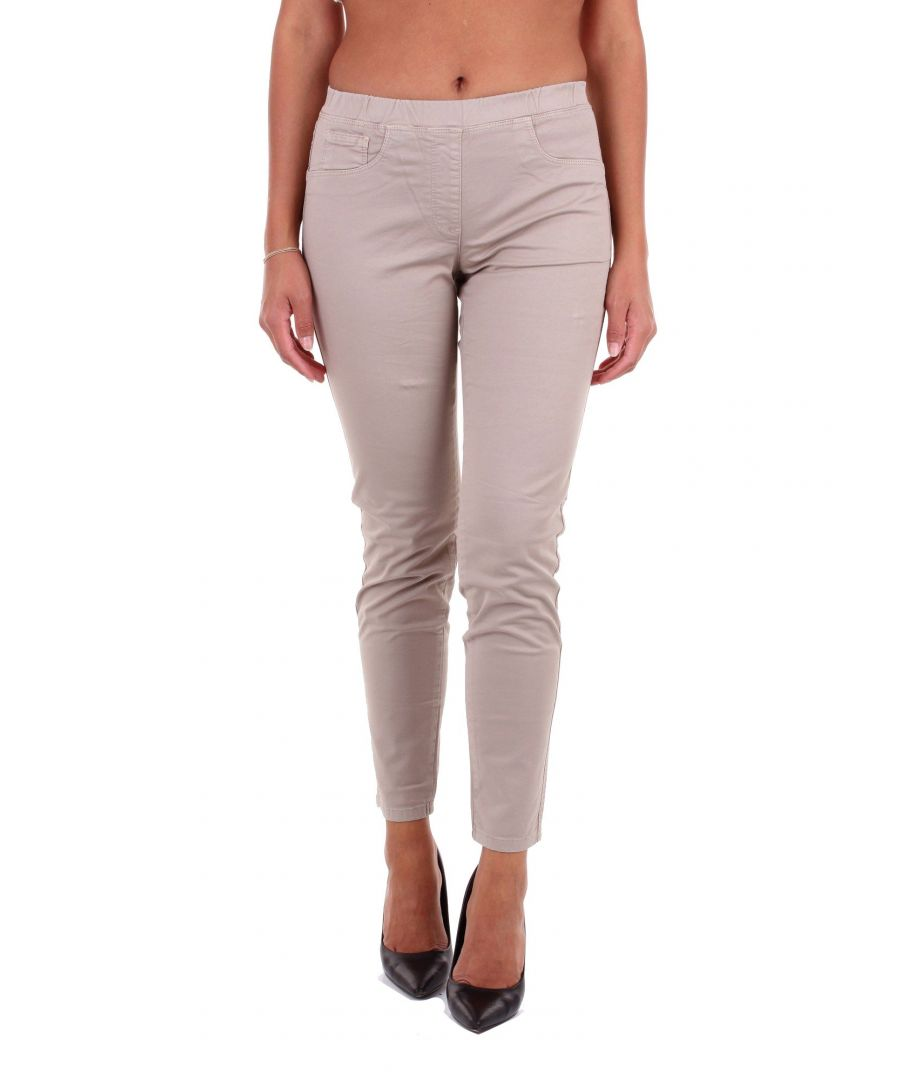 Image for LES COPAINS WOMEN'S 0J3120BEIGE BEIGE COTTON PANTS