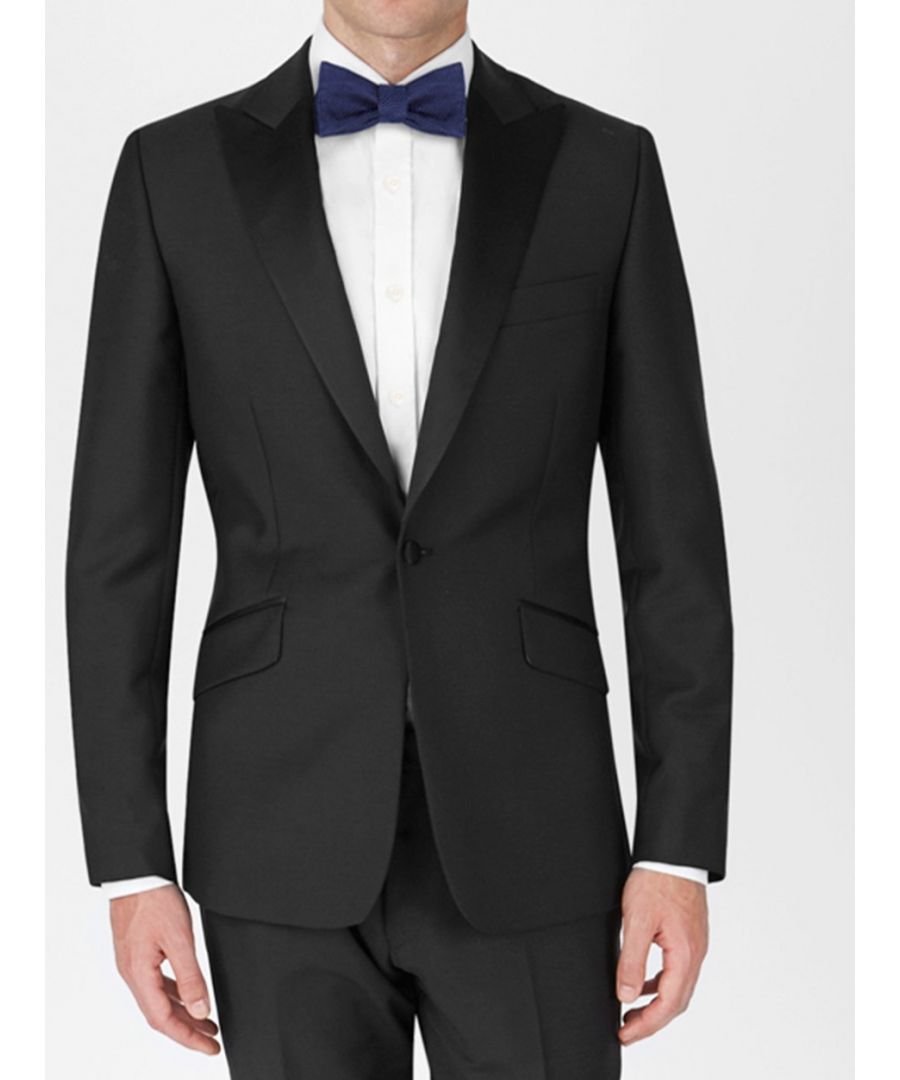 Image for Peak Lapel Tuxedo Jacket Black