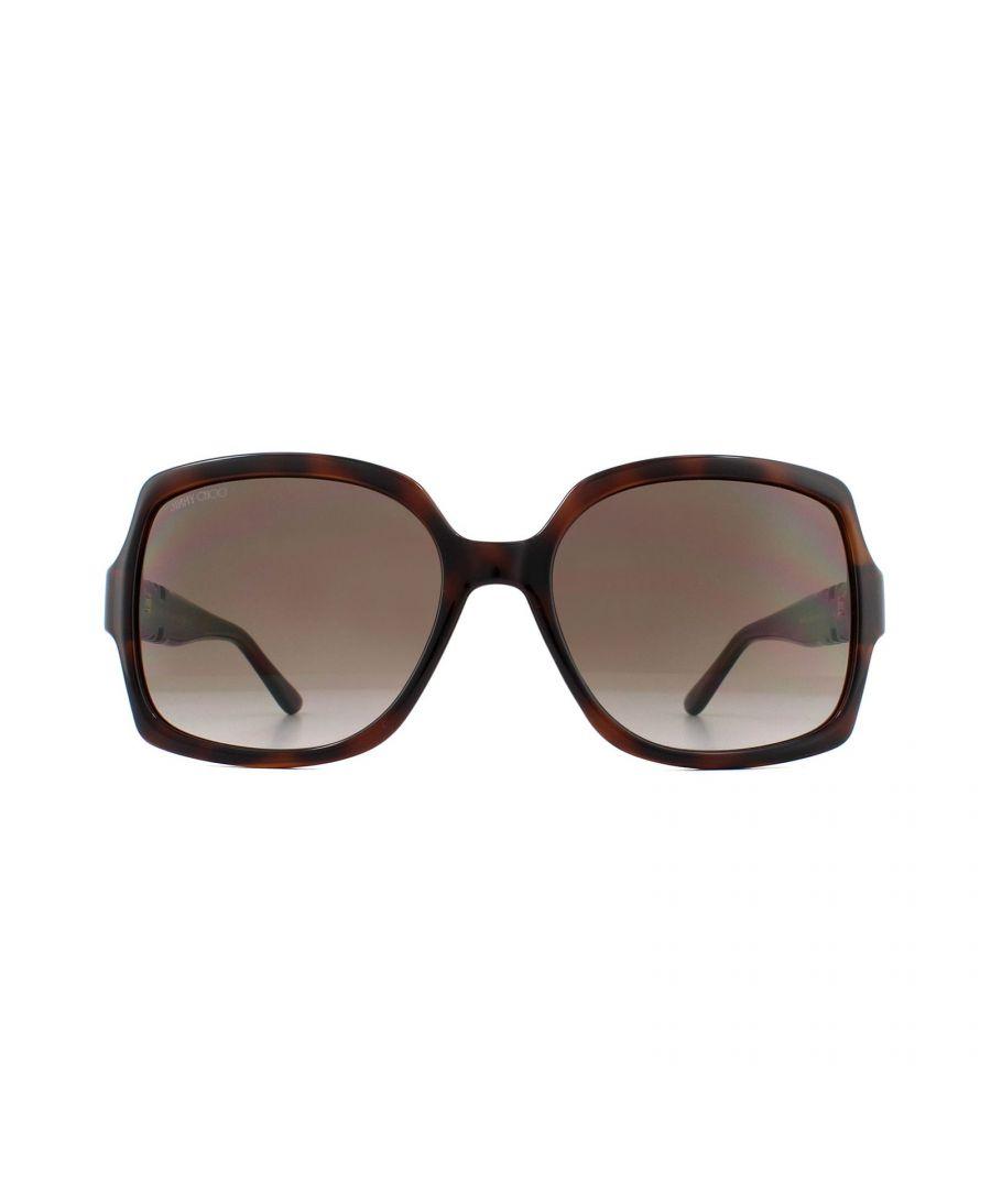 Image for Jimmy Choo Sunglasses SAMMI/G/S 086 HA Dark Havana Brown Gradient