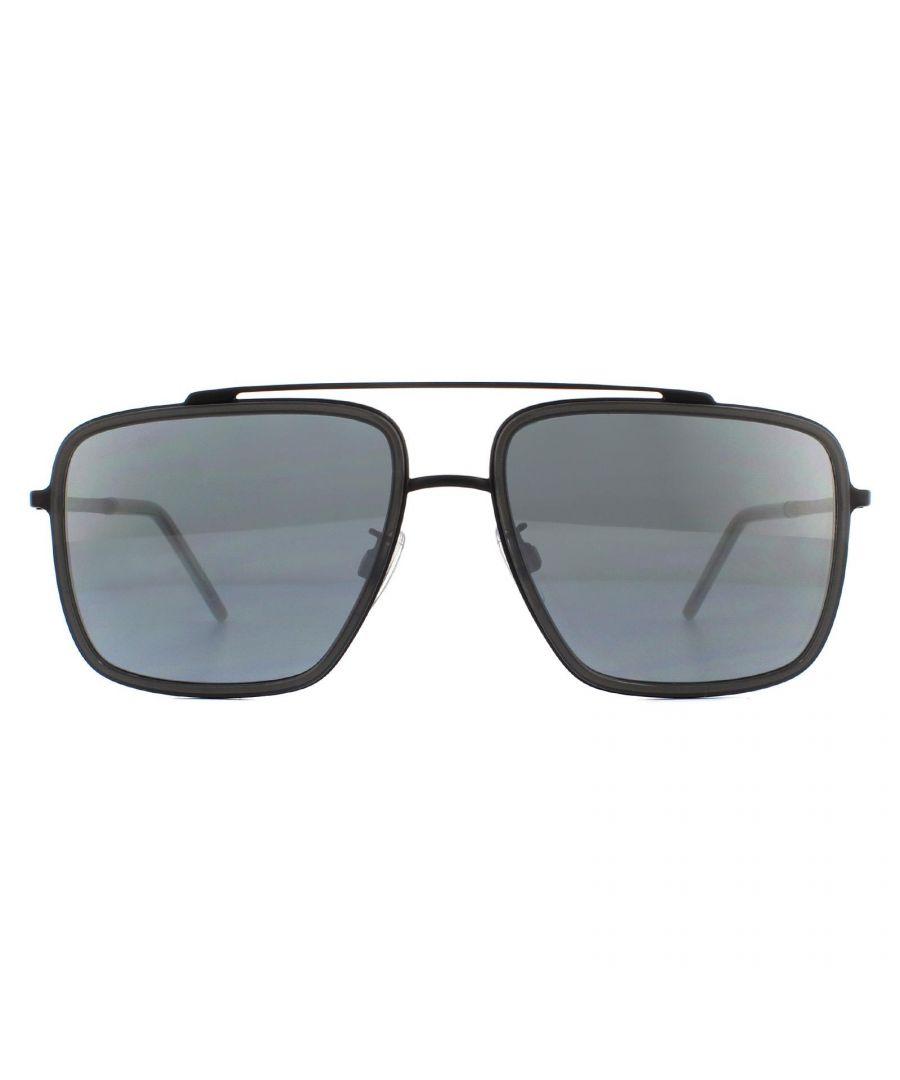 Image for Dolce & Gabbana Sunglasses DG2220 11066G Matte Black Transparent Grey Mirror Black