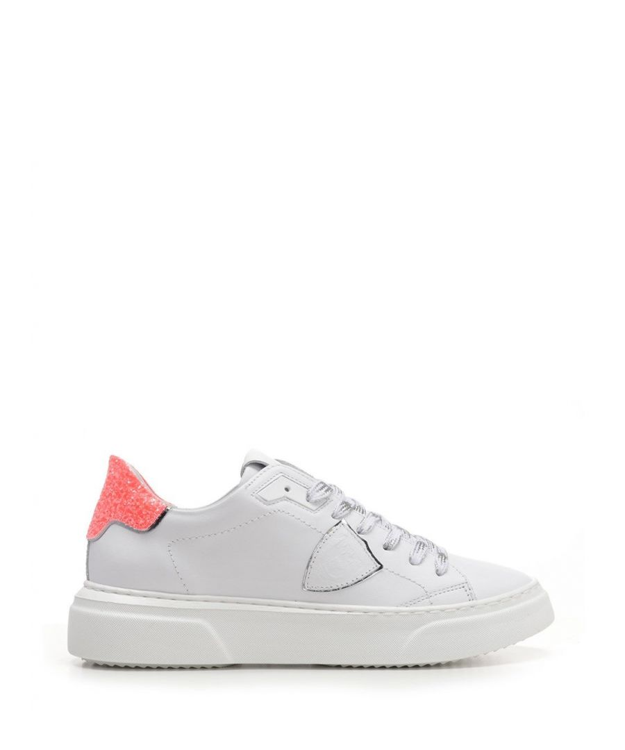 Image for PHILIPPE MODEL WOMEN'S BYLDVG02 WHITE LEATHER SNEAKERS
