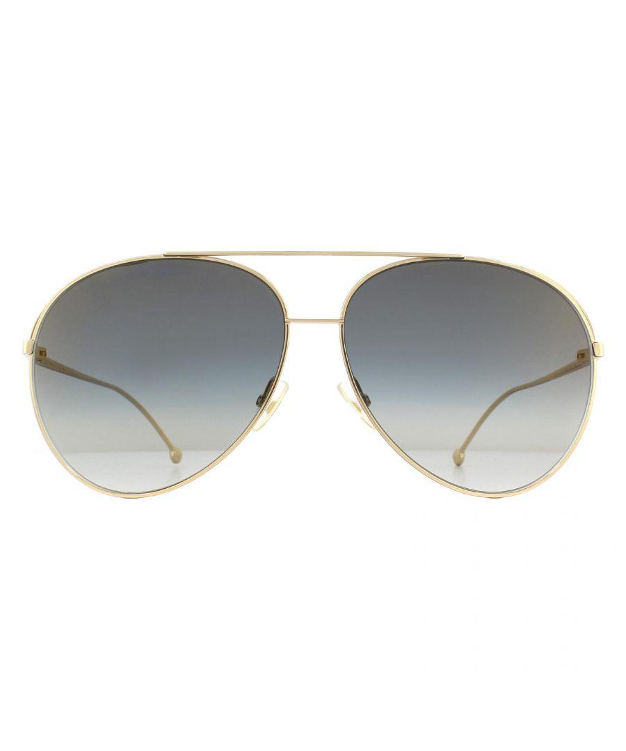 Image for Fendi Sunglasses FF 0286/S J5G FQ Gold Grey Gradient Gold Mirror