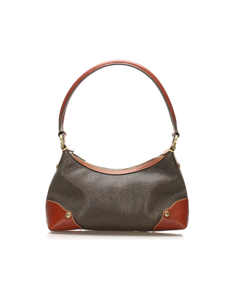 Image for Vintage Mulberry Leather Shoulder Bag Brown