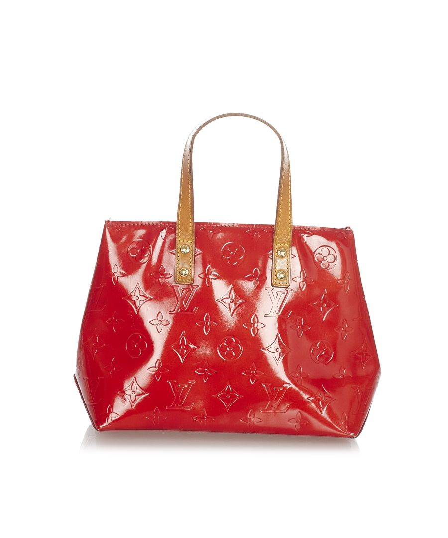Image for Vintage Louis Vuitton Vernis Reade PM Red