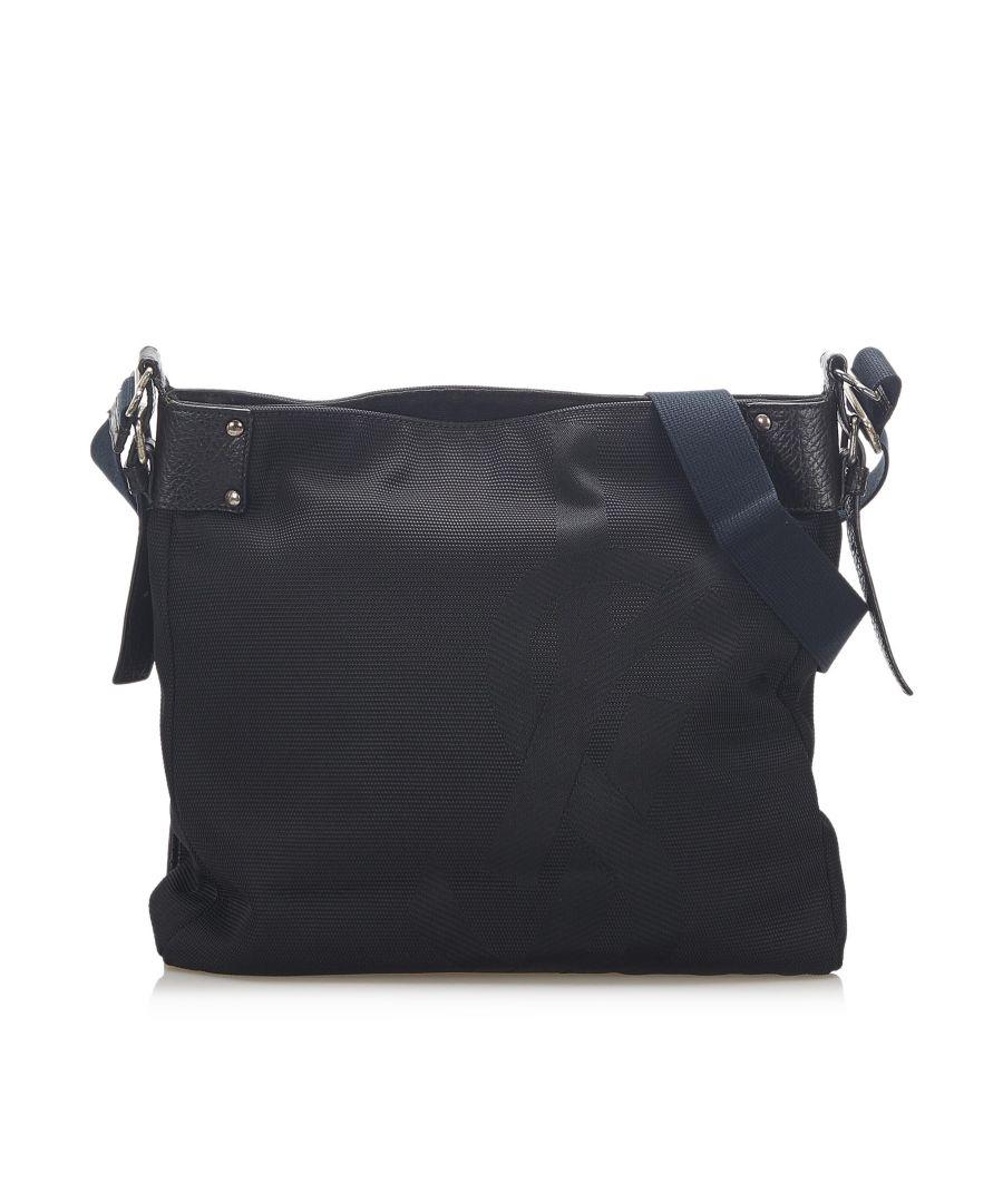 Image for Vintage YSL Nylon Shoulder Bag Black