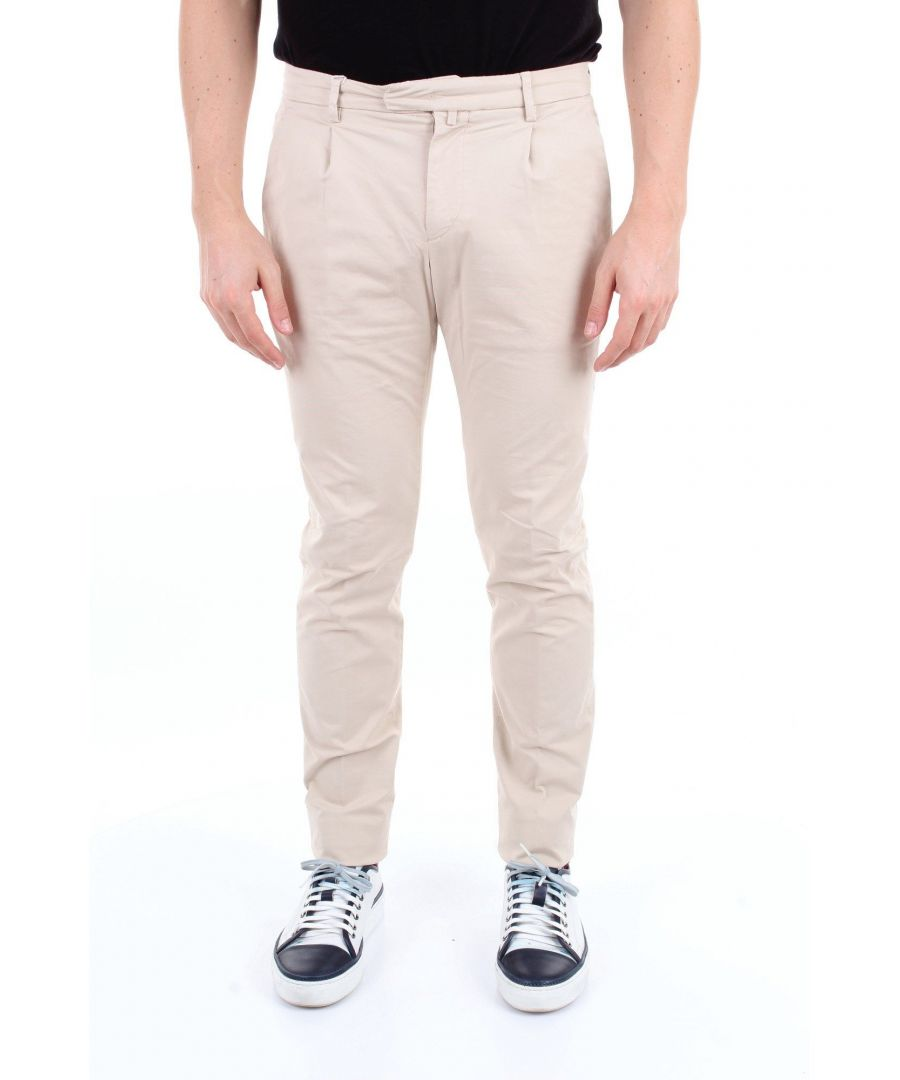 Image for BRIGLIA 1949 MEN'S BG073908BEIGE BEIGE COTTON PANTS