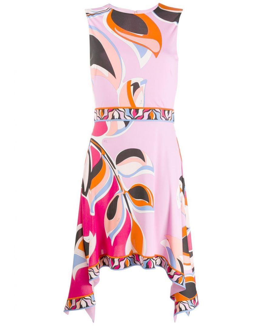 Image for EMILIO PUCCI WOMEN'S 0EJH510E727002 PINK VISCOSE DRESS