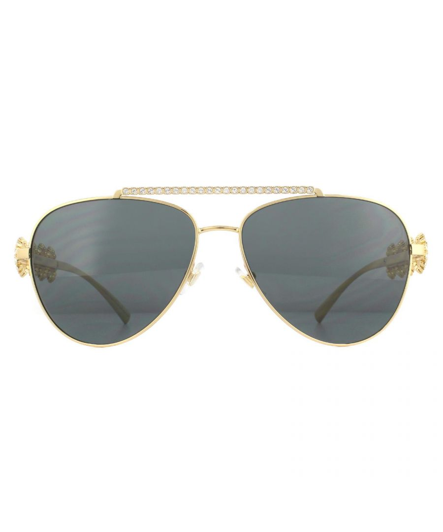 Image for Versace Sunglasses VE2219B 100287 Gold Gray