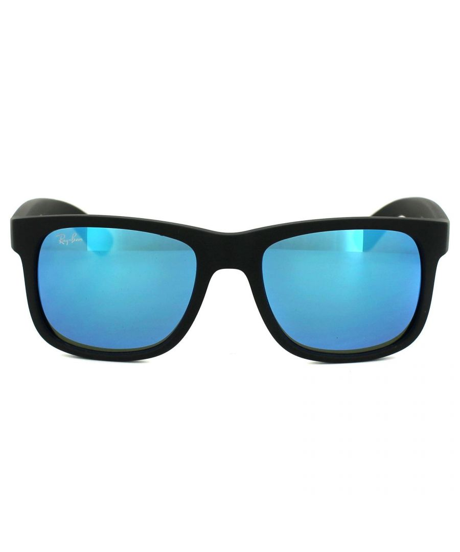 Image for Ray-Ban Sunglasses Justin 4165 622/55 Black Blue Mirror
