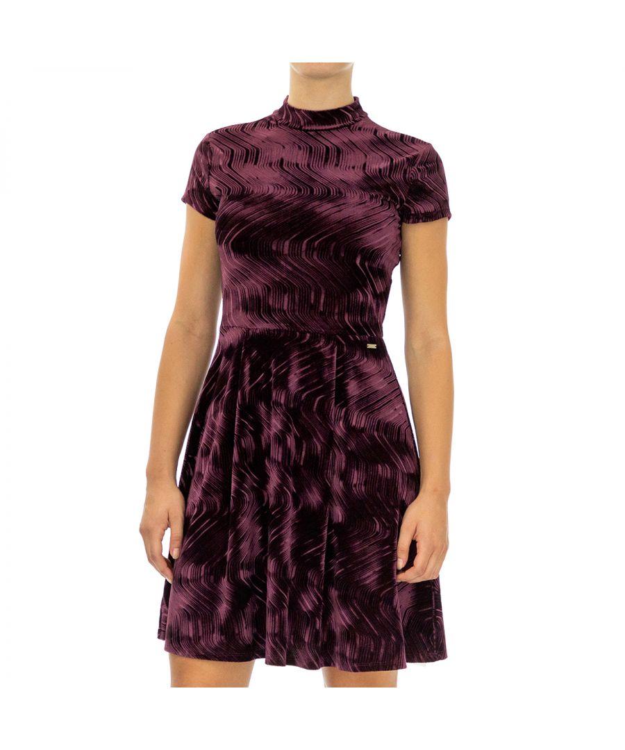 Image for Armani Exchange Women's Half Sleeve Dress in Violet