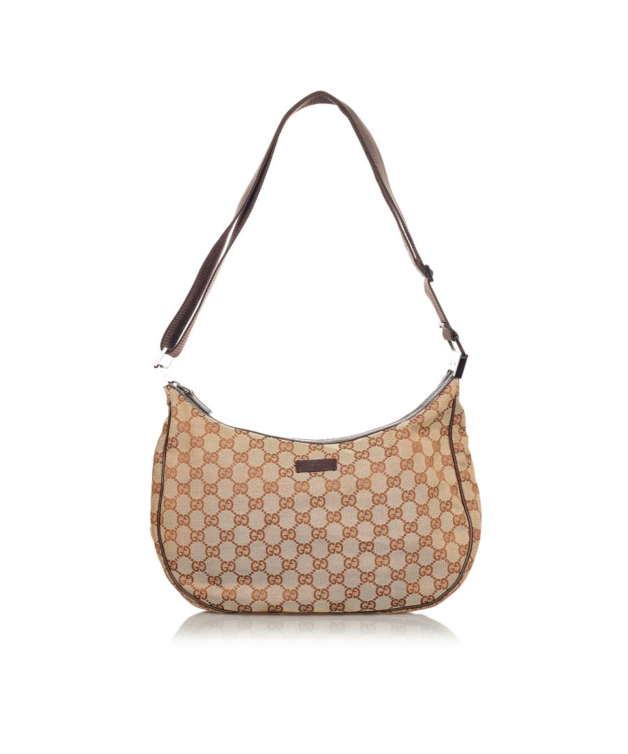 Image for Vintage Gucci GG Canvas Crossbody Bag Brown