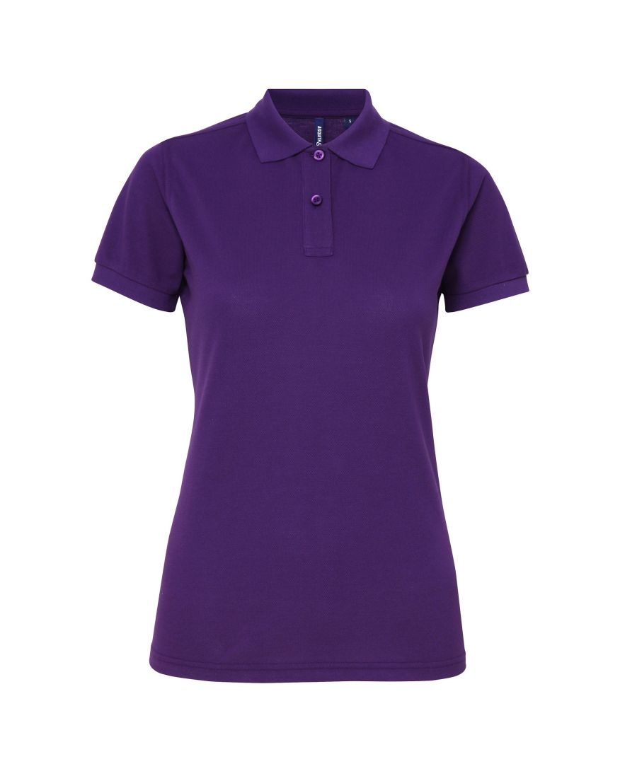 Image for Asquith & Fox Womens/Ladies Short Sleeve Performance Blend Polo Shirt (Purple)