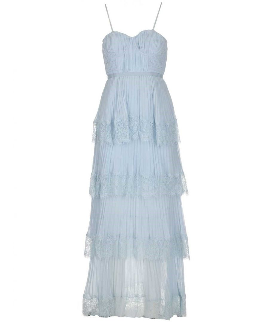 Image for SELF-PORTRAIT WOMEN'S RS20116LTBLUE LIGHT BLUE POLYESTER DRESS