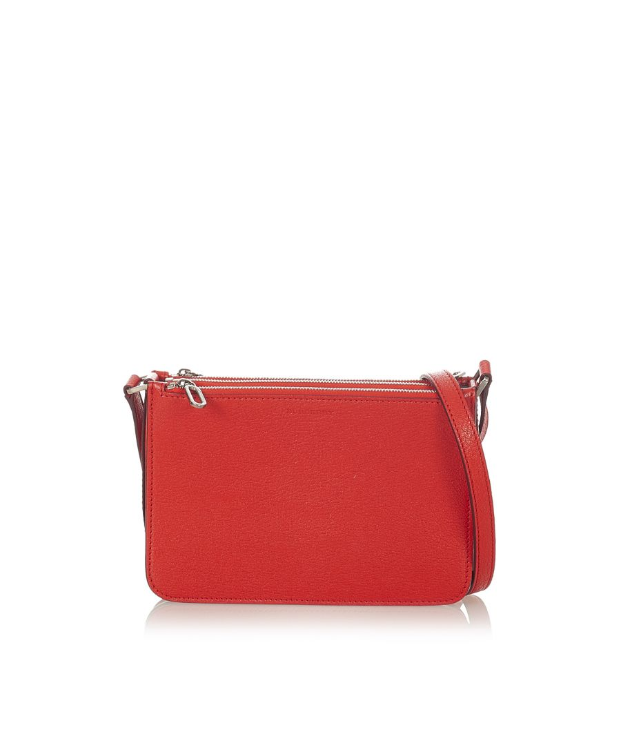 Image for Vintage Burberry Leather Crossbody Bag Red