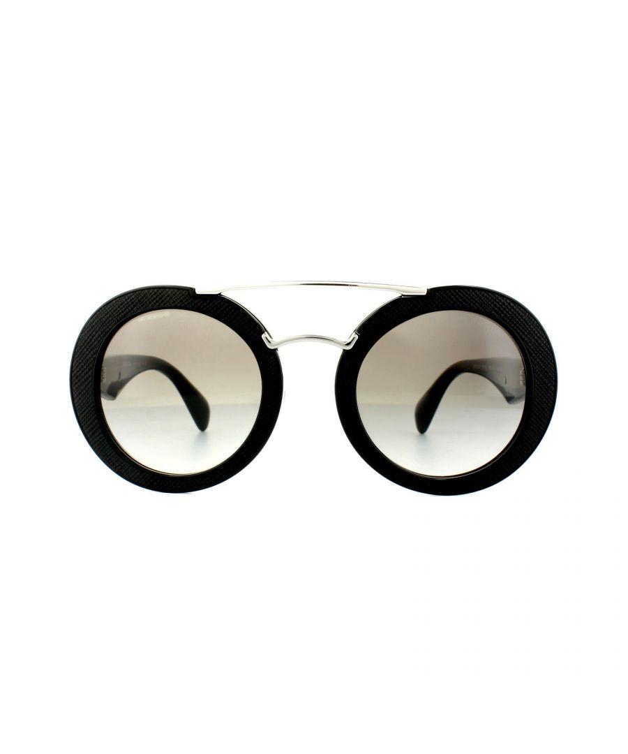 Image for Prada Sunglasses PR15SS 1AB0A7 Black Grey Gradient