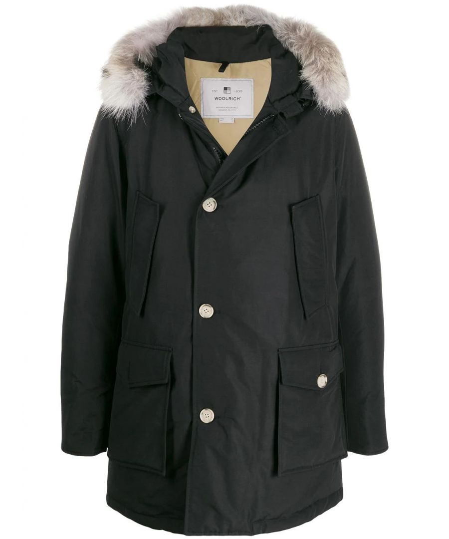 Image for WOOLRICH MEN'S WOCPS2880UT0108NBL BLACK COTTON OUTERWEAR JACKET