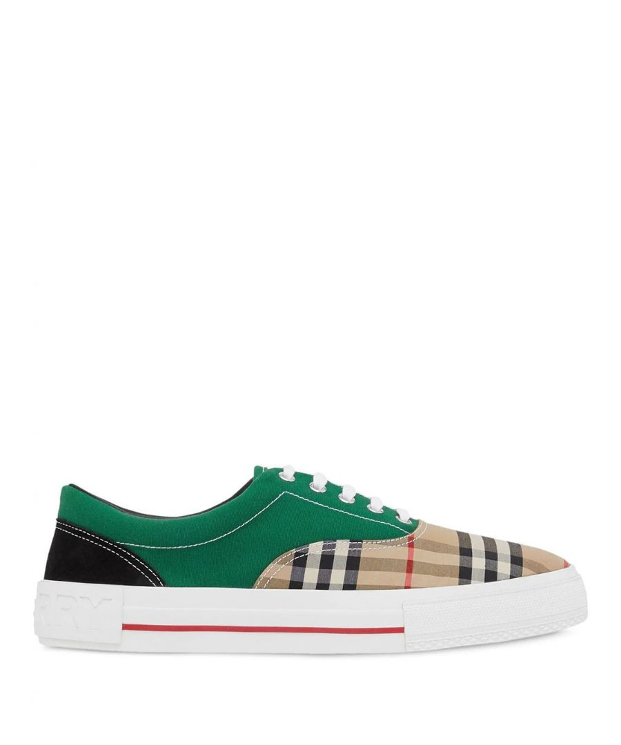 Image for BURBERRY MEN'S 8024882 GREEN COTTON SNEAKERS