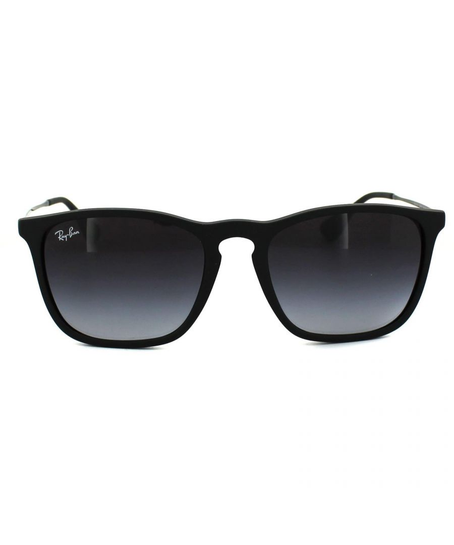 Image for Ray-Ban Sunglasses Chris 4187 622/8G Rubber Black Gradient Grey