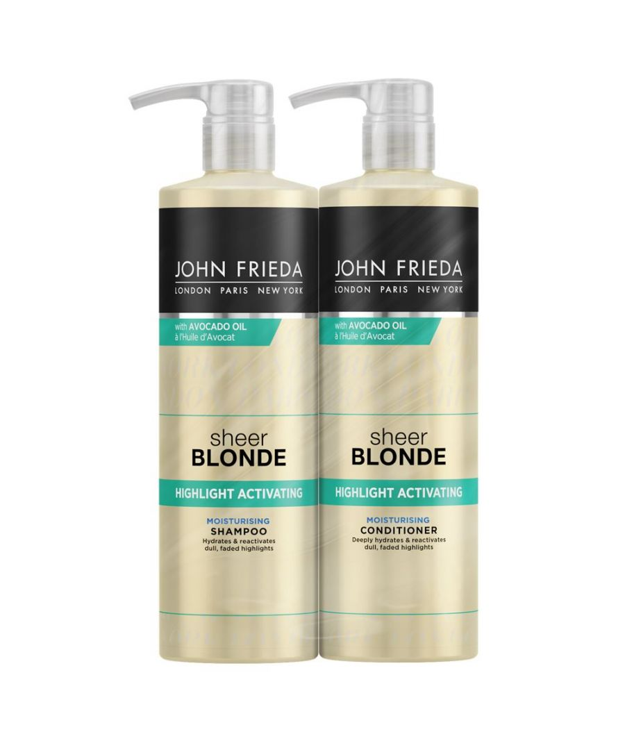 Image for John Frieda Sheer Blonde Highlight Activating Shampoo & Conditioner 500ml Duo Pack
