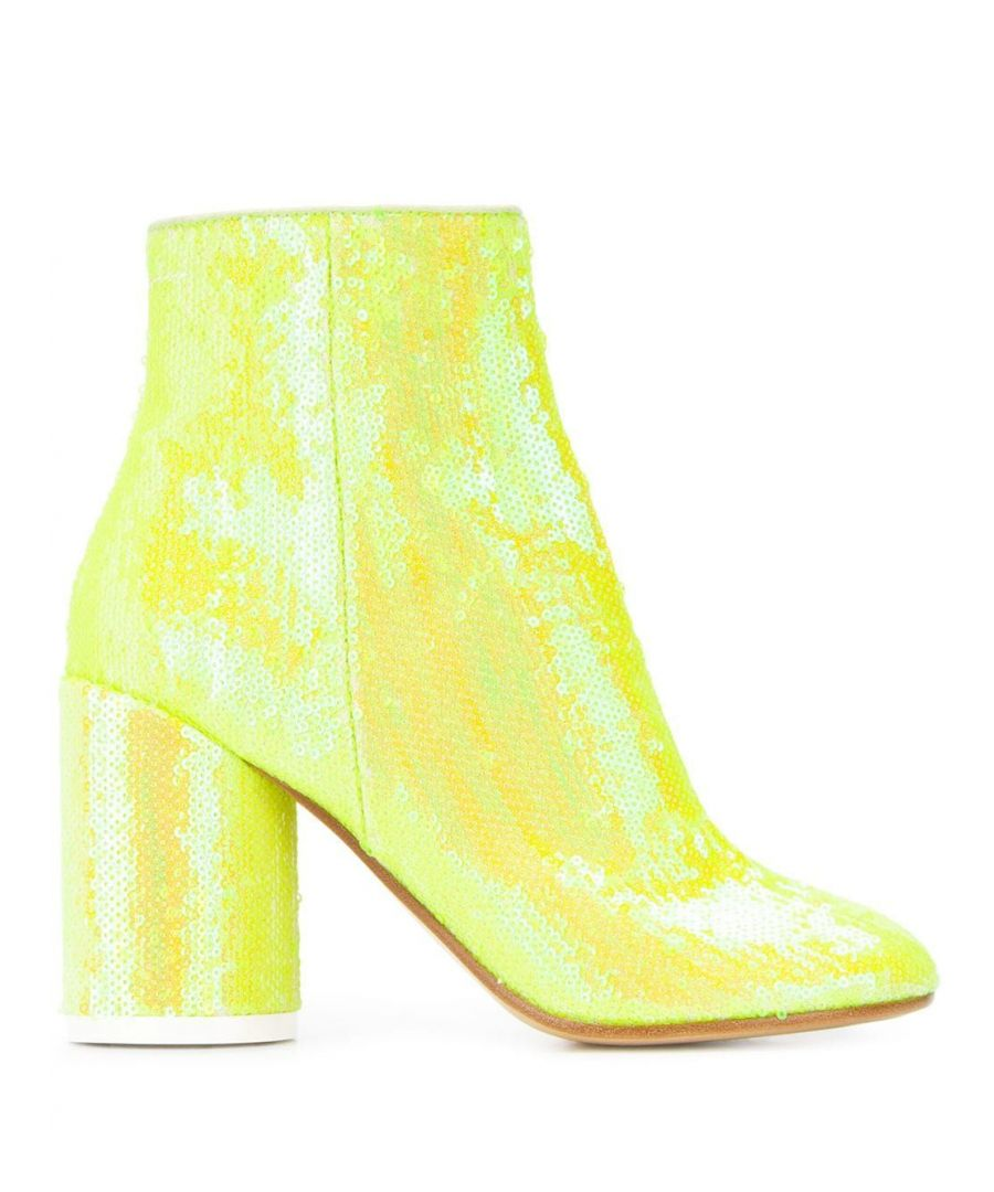 Image for MAISON MARGIELA WOMEN'S S59WU0106P3125T3014 YELLOW SEQUINS ANKLE BOOTS