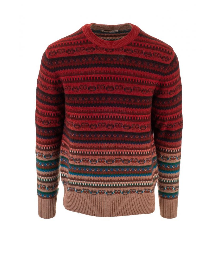 Image for BALLANTYNE MEN'S P2P0007K01594550 RED CASHMERE SWEATER