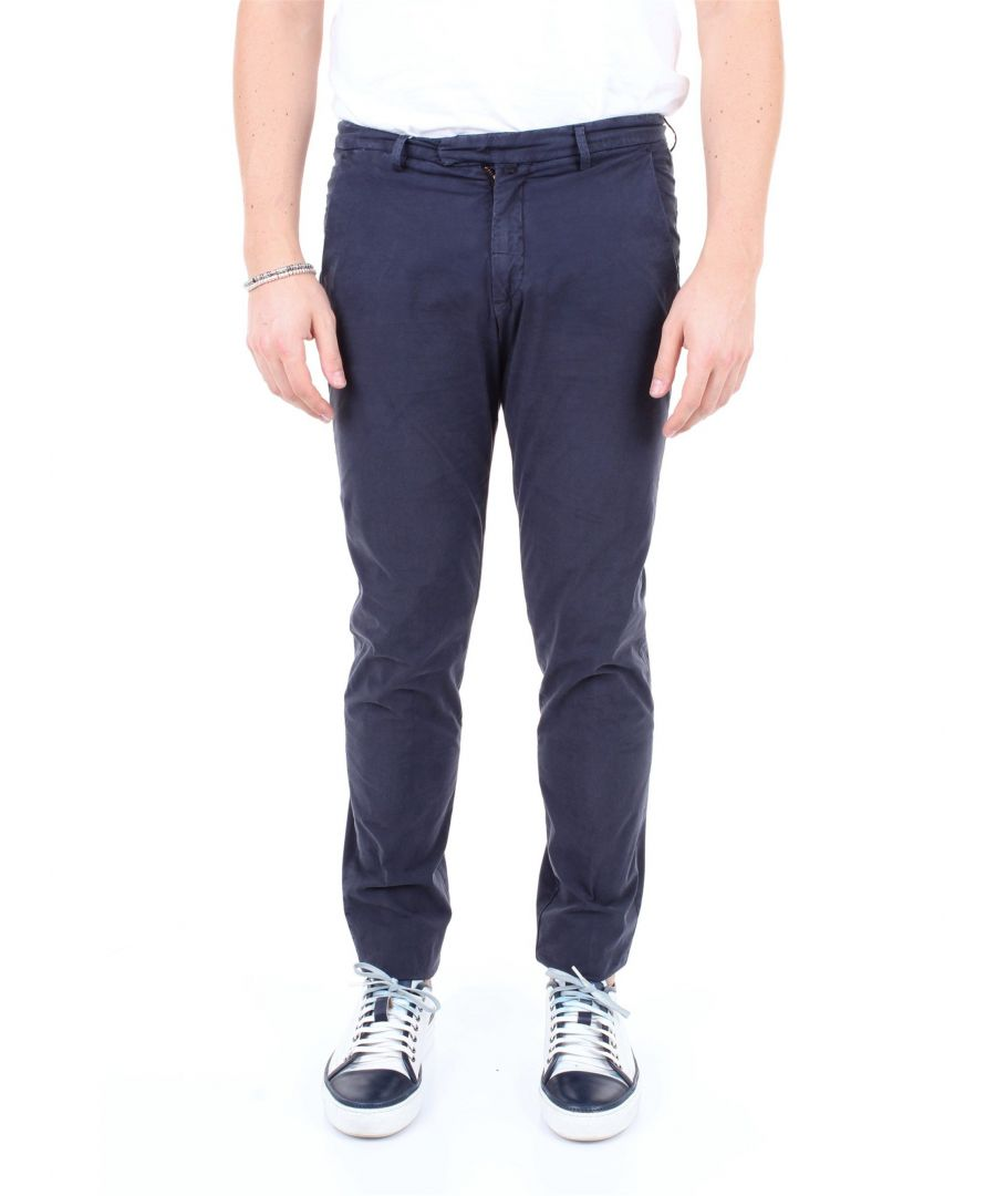 Image for BRIGLIA 1949 MEN'S BG033951BLU BLUE COTTON PANTS