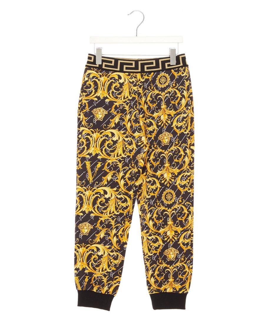 Image for VERSACE BOYS YC000124A232785A7008 GOLD COTTON JOGGERS