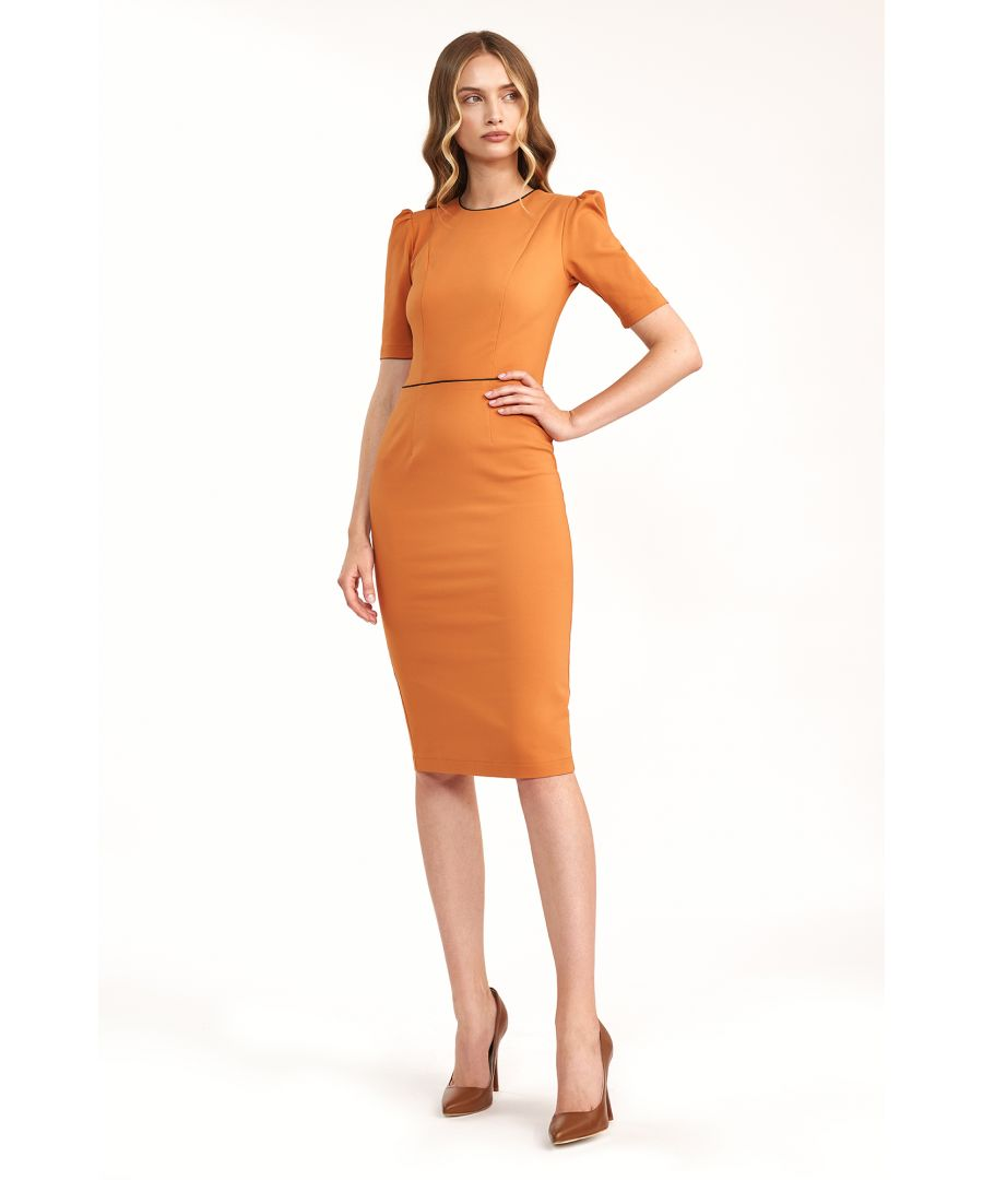 Image for Dress with puffy arms