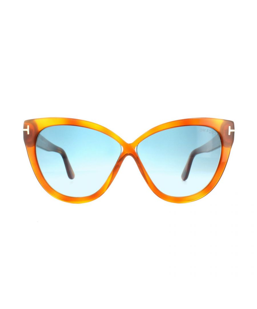 Image for Tom Ford Sunglasses 0511 Arabella 53W Blonde Havana Blue Gradient