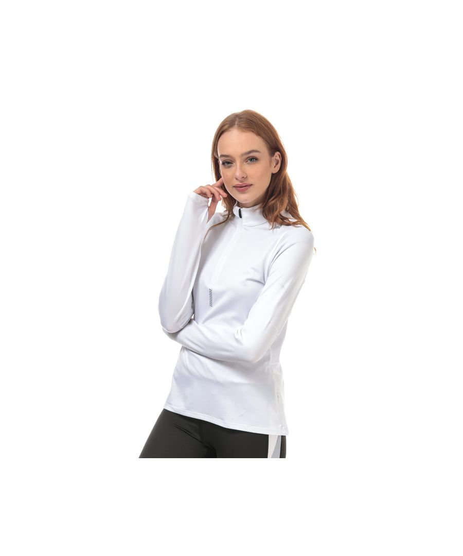 Image for Women's Reebok Run Quarter Zip Top in White