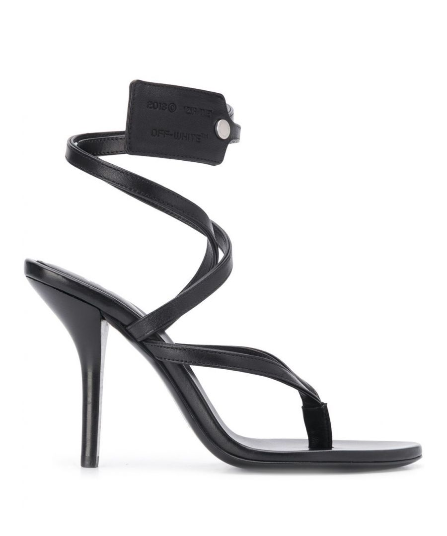 Image for OFF-WHITE WOMEN'S OWIA229S20LEA0011000 BLACK LEATHER SANDALS