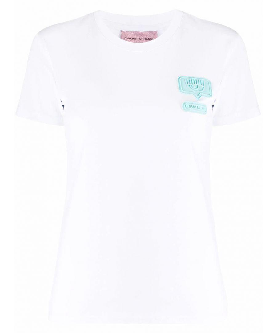 Image for CHIARA FERRAGNI WOMEN'S CFT095WHITE WHITE COTTON T-SHIRT