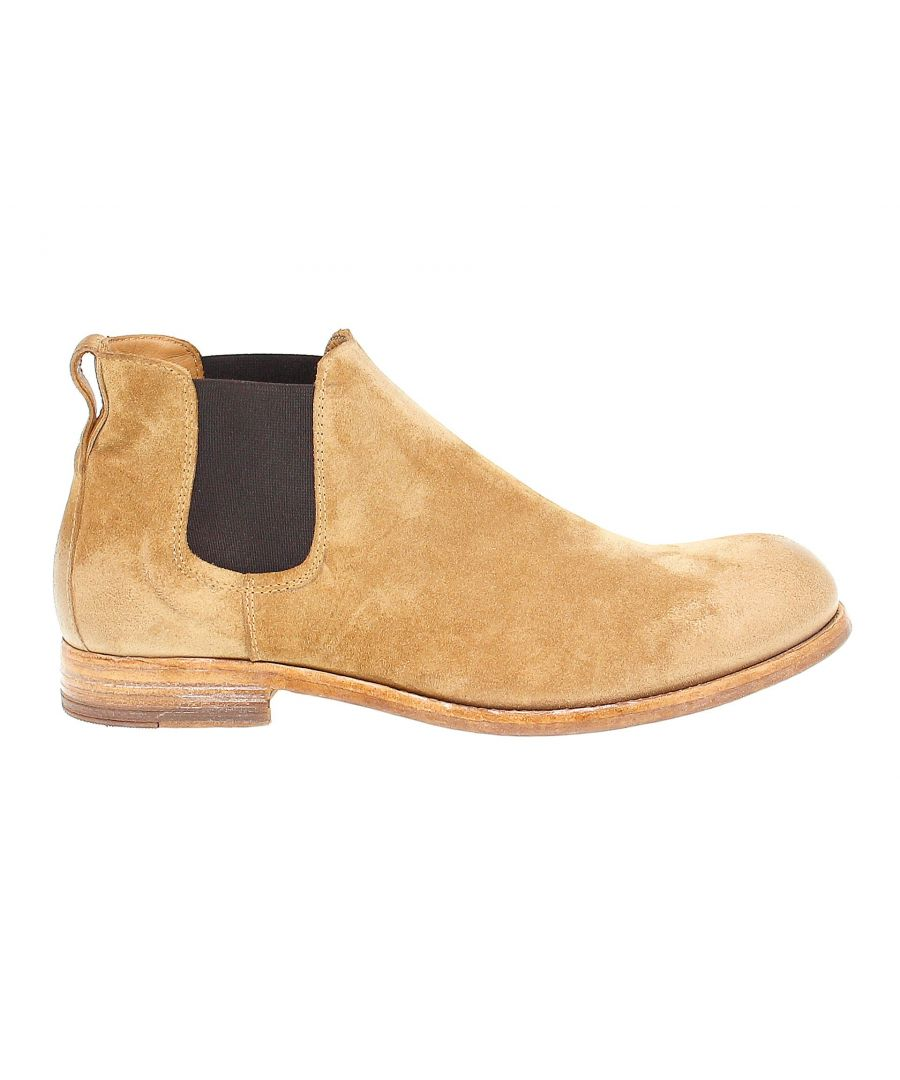 Image for MOMA MEN'S 12803 BROWN SUEDE ANKLE BOOTS